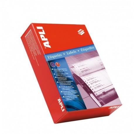 Caja 50u Llaveros Apli Plástico Rojo